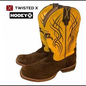 Twisted X Cowboy Boots Hooey Men's 10 EE Brown